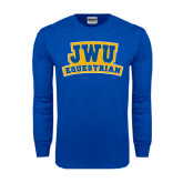 Royal Long Sleeve T Shirt-JWU Equestrian