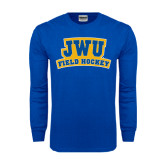 Royal Long Sleeve T Shirt-JWU Field Hockey
