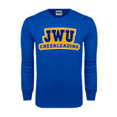 Royal Long Sleeve T Shirt-JWU Cheerleading