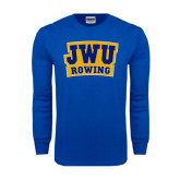 Royal Long Sleeve T Shirt-JWU Rowing