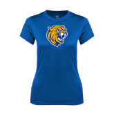 Ladies Syntrel Performance Royal Tee-Wildcat Head