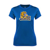 Ladies Syntrel Performance Royal Tee-JWU Wildcats