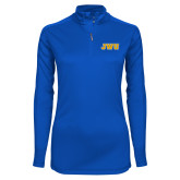 Ladies Syntrel Interlock Royal 1/4 Zip-JWU