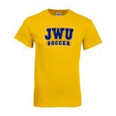 Gold T Shirt-JWU Soccer
