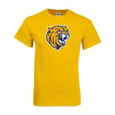 Gold T Shirt-Wildcat Head