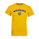 Gold T Shirt-Arched Wildcats