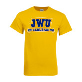 Gold T Shirt-JWU Cheerleading
