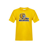 Youth Gold T Shirt-JWU Wildcats