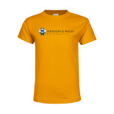 Youth Gold T Shirt-University Mark