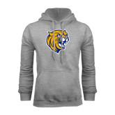 Grey Fleece Hoodie-Wildcat Head