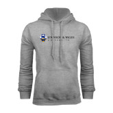 Grey Fleece Hoodie-University Mark