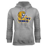 Grey Fleece Hoodie-Tennis