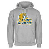 Grey Fleece Hoodie-JWU Wildcats