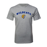 Grey T Shirt-Arched Wildcats