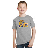 Youth Grey T-Shirt-JWU Wildcats