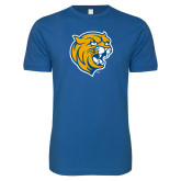 Next Level SoftStyle Royal T Shirt-Wildcat Head