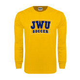 Gold Long Sleeve T Shirt-JWU Soccer