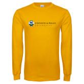 Gold Long Sleeve T Shirt-University Mark