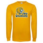 Gold Long Sleeve T Shirt-JWU Wildcats