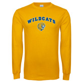 Gold Long Sleeve T Shirt-Arched Wildcats