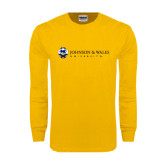 Gold Long Sleeve T Shirt-University Mark