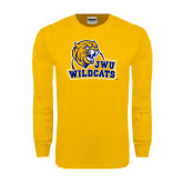 Gold Long Sleeve T Shirt-JWU Wildcats