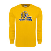 Gold Long Sleeve T Shirt-Wrestling