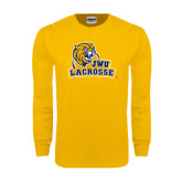 Gold Long Sleeve T Shirt-Lacrosse