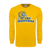 Gold Long Sleeve T Shirt-Equestrian