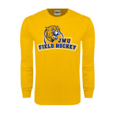 Gold Long Sleeve T Shirt-Field Hockey