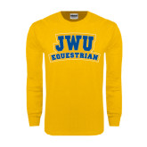 Gold Long Sleeve T Shirt-JWU Equestrian