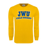 Gold Long Sleeve T Shirt-JWU Field Hockey