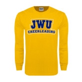 Gold Long Sleeve T Shirt-JWU Cheerleading