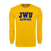 Gold Long Sleeve T Shirt-JWU Rowing