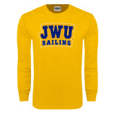 Gold Long Sleeve T Shirt-JWU Sailing