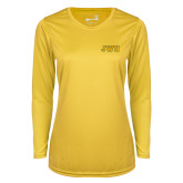 Ladies Syntrel Performance Gold Longsleeve Shirt-JWU