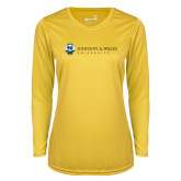 Ladies Syntrel Performance Gold Longsleeve Shirt-University Mark
