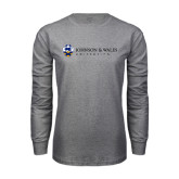Grey Long Sleeve T Shirt-University Mark
