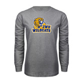 Grey Long Sleeve T Shirt-JWU Wildcats