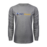 Grey Long Sleeve T Shirt-JWU Alumni