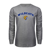 Grey Long Sleeve T Shirt-Arched Wildcats