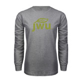Grey Long Sleeve T Shirt-Substainability Mark