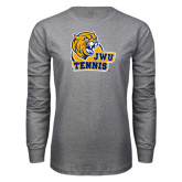 Grey Long Sleeve T Shirt-Tennis