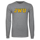 Grey Long Sleeve T Shirt-JWU