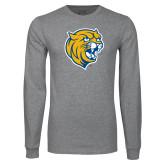 Grey Long Sleeve T Shirt-Wildcat Head