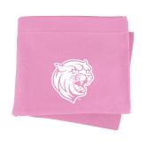 Pink Sweatshirt Blanket-Wildcat Head