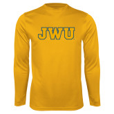 Performance Gold Longsleeve Shirt-JWU
