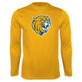 Performance Gold Longsleeve Shirt-Wildcat Head