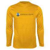 Performance Gold Longsleeve Shirt-University Mark