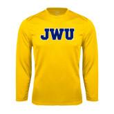 Syntrel Performance Gold Longsleeve Shirt-JWU